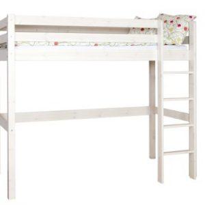 Kinderhochbett weiß  Jugendbett Hochbett Kinderbett Bett Stockbett Kinderhochbett Weiß ...